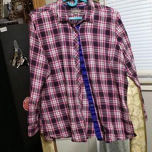 EUC Eddie Bauer cotton flannel,XXL,cute!